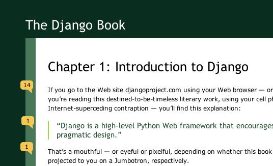 The Django Book - Comment UI