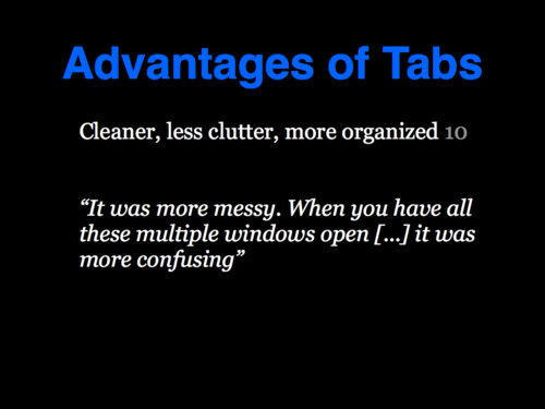 A Study of Tabbed Browsing - Slide 14