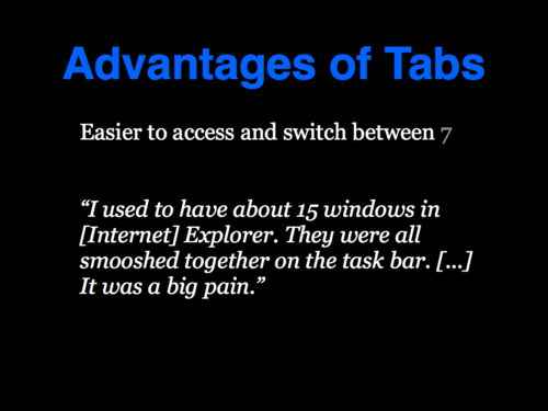 A Study of Tabbed Browsing - Slide 15