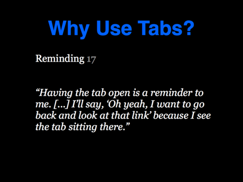 A Study of Tabbed Browsing - Slide 18