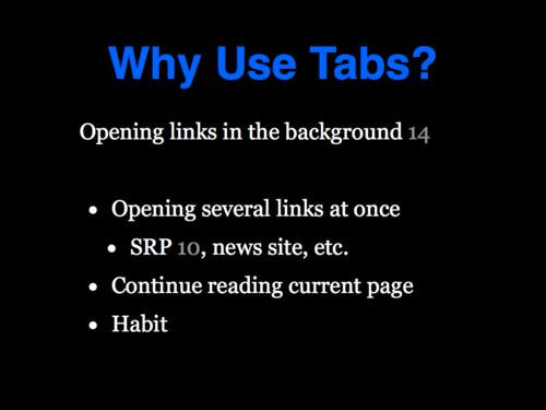 A Study of Tabbed Browsing - Slide 19