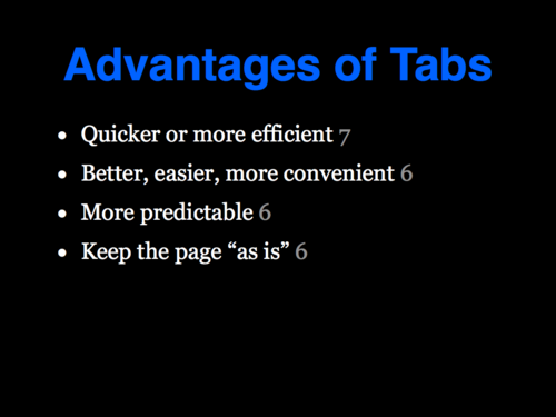 A Study of Tabbed Browsing - Slide 23