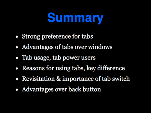 A Study of Tabbed Browsing - Slide 24