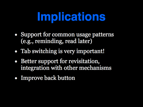A Study of Tabbed Browsing - Slide 25